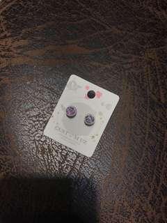韓國防敏感水晶波波耳環