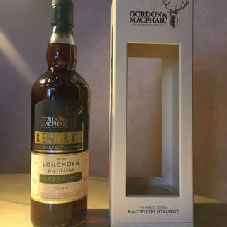 Longmorn Gordon & MacPhail Reserve series 1972 Vintage 39YO 1st fill sherry Butt cask no. 1084 (422 bottles limited) $7,800