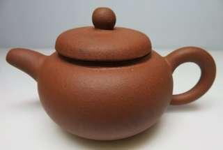 🚚 [老茗器]紫砂壺~紅土 圓珠壺 墨緣齋 有落款 130CC