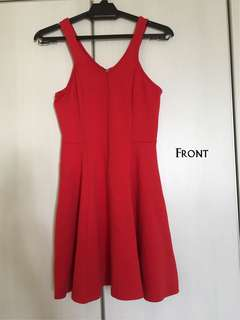 Nichii little Red Flare Dress