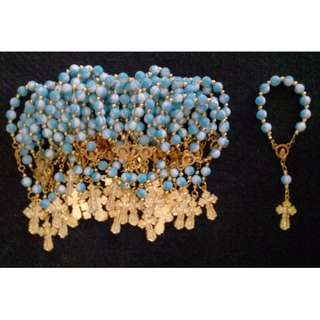 Gold Pocket Rosary Mama Mary design Souvenirs wedding baptismal