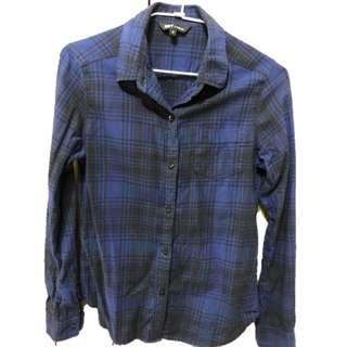 🚚 藍色格子襯衫