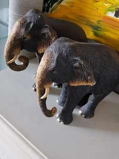 2 Elephant Sculptures
