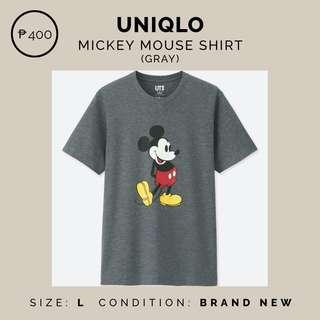 Uniqlo Mickey Mouse Grey Shirt
