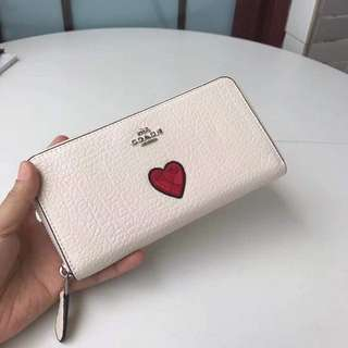 Coach Wallet with Heart Paint