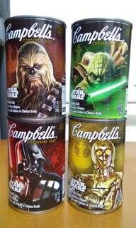 Star wars 星球大戰 美版金寶湯 一套四款