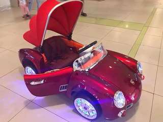 Red Porsche Vintage Rechargeable Ride On Car