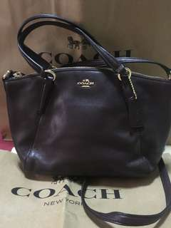Coach Mini Kelsey Satchel in Oxblood