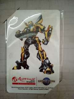 Limited Edition BumbleBee Transformer Ezlink Card