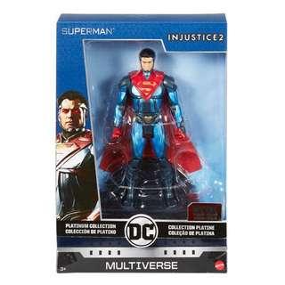 "預訂全新金屬製 正義聯盟超人 Injustice DC Multiverse Justice League Superman Diecast 6"" figure"