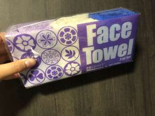 🚚 BNIB Face Towels ( 3 in a pack)