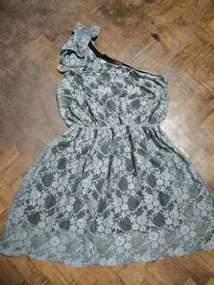 Get laud one shoulder lace dress