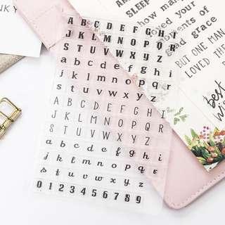 [PO] alphabet stamp set