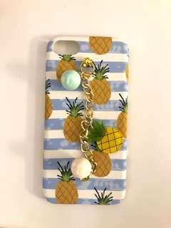 藍白間條菠蘿手機殼iPhone8 Case