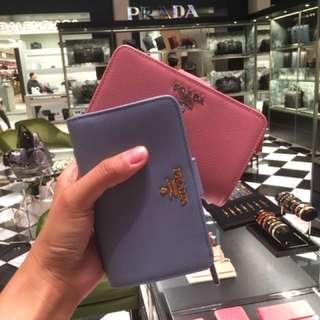 Prada Wallet 短銀包 粉色