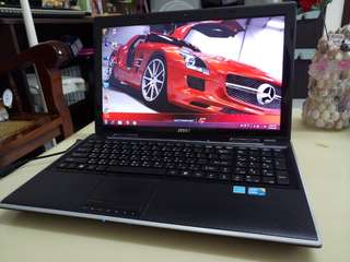 Msi 15.6inch/i5/windows7/4Gb Ram/English language laptop, Gaming