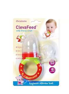 Baby food feeder fruit feeder baby nibbler clevamama clevafeed baby food feeder with extra teat (introduce solids) and travel cover