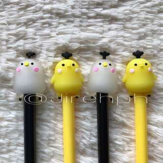 12 pcs. White and Yellow Chick Pens💕
