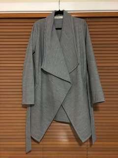 Grey Waterfall Coat Size S (8-10)