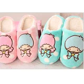 Little twin stars gemini home slippers female floor soft outsole slippers star paragraph