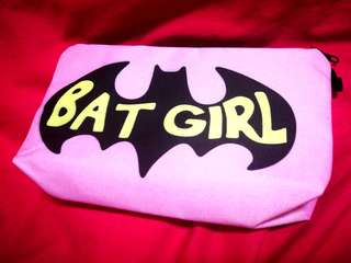 🚚 [INSTOCK] Zip Pouch Multi-Purpose Dumpling Bag Pencil Case (BatGirl)