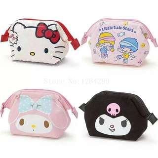 New Fashion Hello Kitty My Melody Little Twin Stars kuromi Girls Kids Mini Canvas Coin Purse For Children Gifts