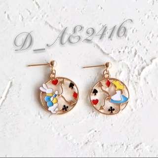 [D款] 愛麗絲造型耳環 1對@$50 2@$90