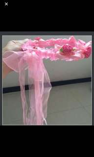 Pink Flora Hair Band for Wedding/Page Girl