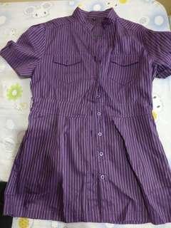 Maternity polo blouse