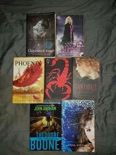 Assorted Fiction Novels for SALE