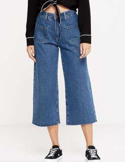 COTTON ON mid wide crop jeans