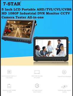 """5""""inch Portable CCTV DVR Recorder-LCD Portable AHD/TVI/CVI/CVBS/ANALOG Full-HD 1080P Industrial DVR build in 5inch Monitor CCTV Camera Tester All-in-one (Rechargeable Battery)"""