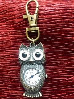 🚚 貓頭鷹鑰匙圈兩用錶