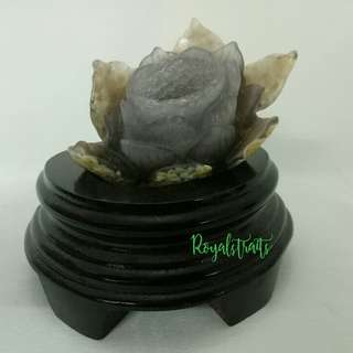 Collectibles Crystal Agate in Lotus Design #3