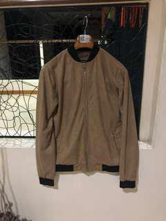 Forever21 Suede Bomber Jacket