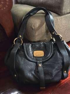 Michael Kors MK Black Leather Bag - Authentic