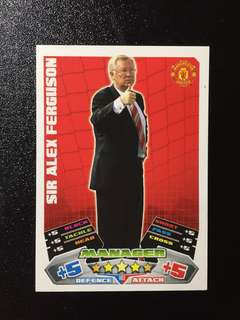 RARE Sir Alex Ferguson Match Attax Card 2011/12