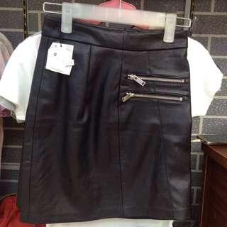 Bershka Leather Skirt Overrun