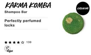 🚚 Lush Shampoo Bar karma komba