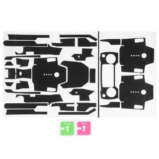 RC539 - 用於DJI Mavic Pro無人機+發射器+電池的防水碳纖維貼紙皮貼紙蓋