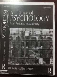 A history of psychology From Antiquity to Modernity