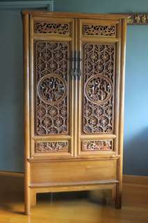 紅木雕花櫃