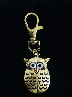 🚚 貓頭鷹造型鑰匙圈兩用錶