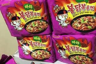SUPER SALE!!! Samyang Fire Noodles x4 (MALA) and CHEESE 30 pieces (6 packs)