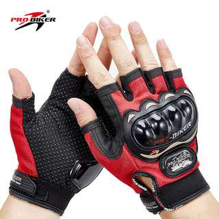Pro Biker Half Finger Motorbike Glove