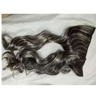 Gray hair extension