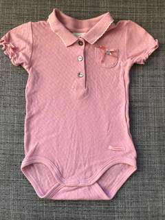 Collared baby body - old fashioned design