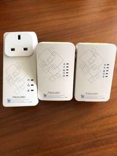 🚚 Prolink AC Ethernet ppl1500p + prolink ppl1501n