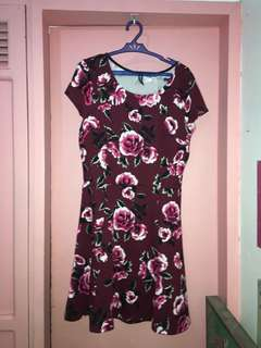 H&M Red Floral Dress