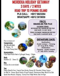Merdeka holiday penang road trip